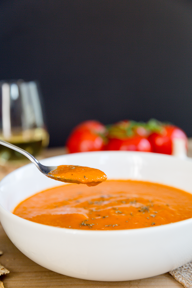 Tuscan Tomato Bisque In The Vitamix