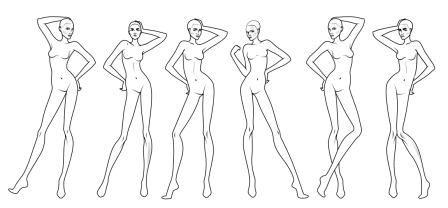 Fashion Designer Templates Unique 6 Poses Template With Elbowes  Clothing Designs  Pinterest .