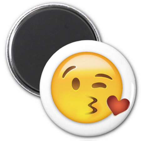 Face Throwing A Kiss Emoji Magnet Zazzle Com Kiss Emoji Emoji Emoji Magnet