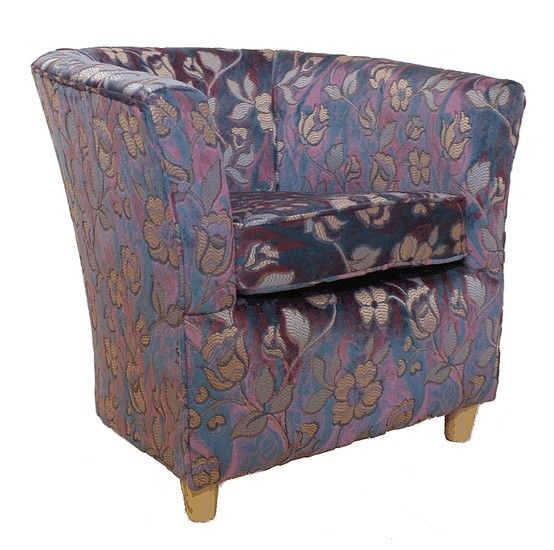 Superb Tub Chair Chenille Fabric Bucket Contract