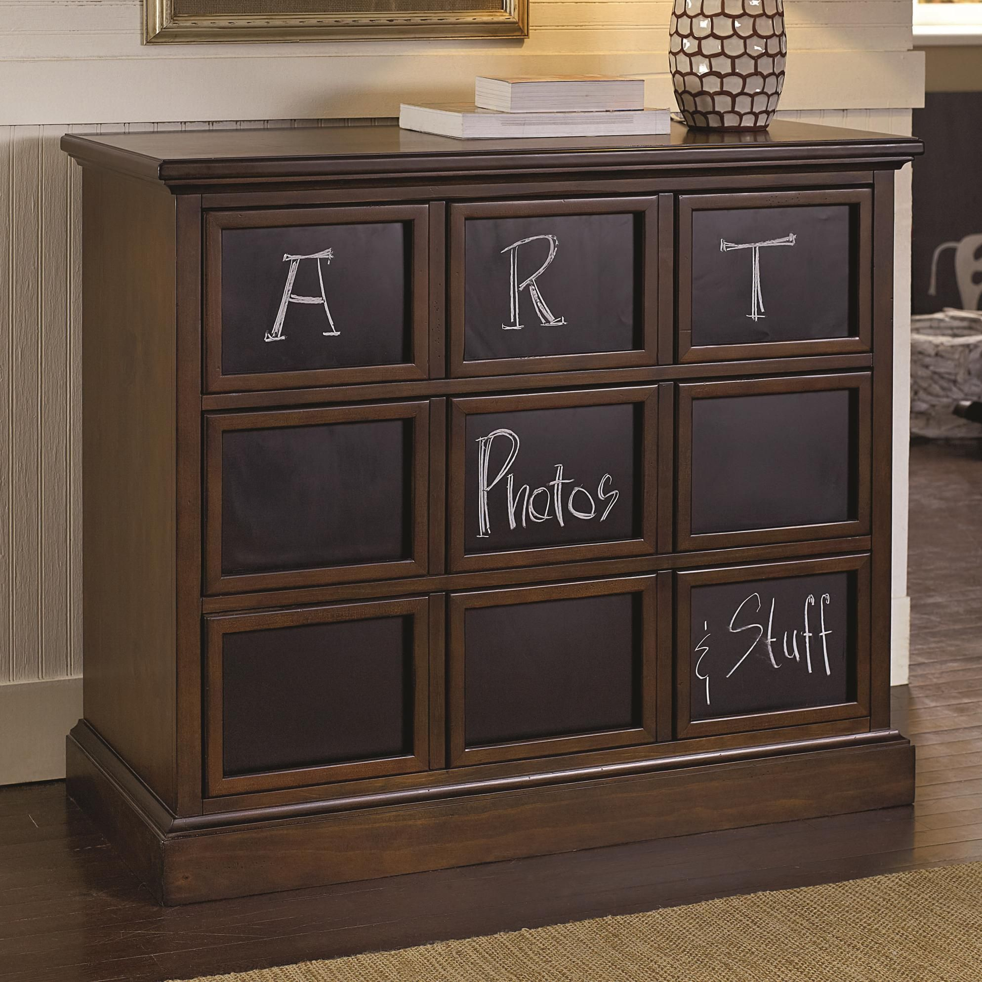 A blackboard chest is fun for kids and adults alike.