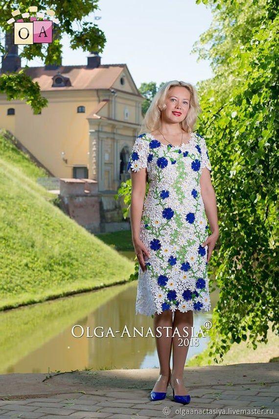 CROCHET PATTERN - Anniversary Crocheted Dress - Cotton Dress - Irish Lace - Digital download (1 PDF) #irishlacecrochetpattern
