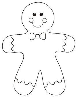 Gingerbread Man Bulletin Board Project Templates Gingerbread