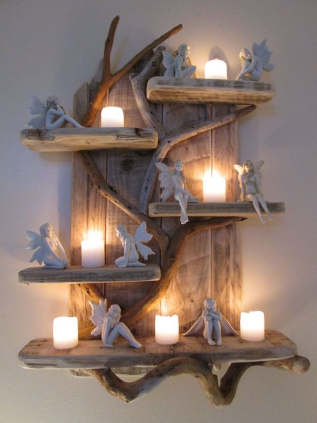 Photo of Magical Unique Driftwood Shelves Solid Rustic Shabby Chic Nautical Artwork in Ho…