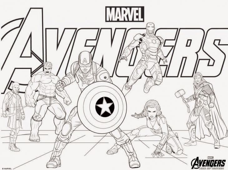 Avengers Coloring Pages  ComicsSuperheros  Pinterest  Craft