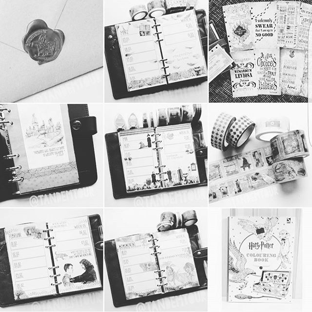 ☇Already planning my planner for post-wedding life. #pottermeetsplanner is happiness in a hashtag.