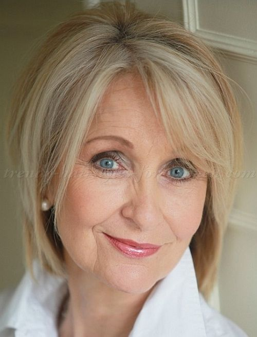 50 Hairstyles Glamorous Short Blonde Bob Hairstyle  Hairstyles For Women Over 50