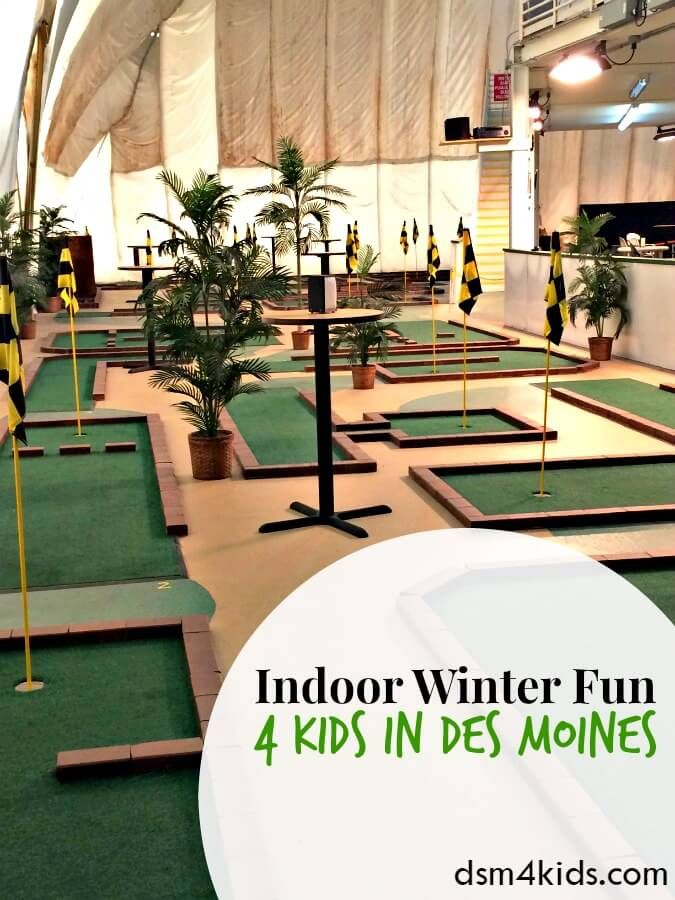 Here are a few ideas for kids to enjoy indoors on a cold winter day in Des Moines, IA.