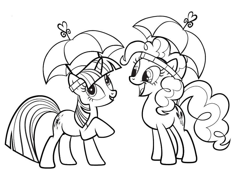 Mlp Twilight Sparkle And Pinkie Pie My Little Pony Coloring Horse Coloring Pages Little Pony