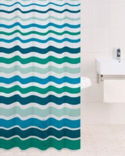 Buy Sabichi PEVA Shower Curtain in Lagoon from our Shower Curtains & Shower Rails range - Tesco.com