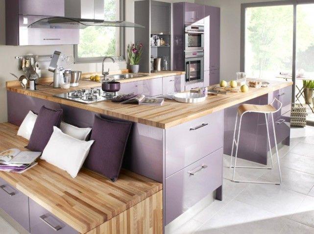 Cuisine lavande kitchen pinterest cuisine lavande - Plan de travail fait maison ...