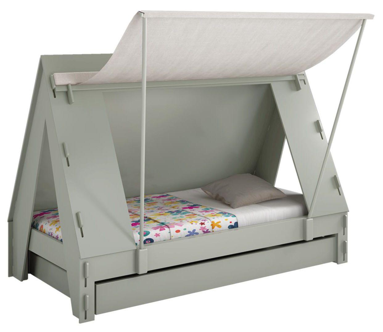 Lit Enfant Forme Tente Bois Et Toile