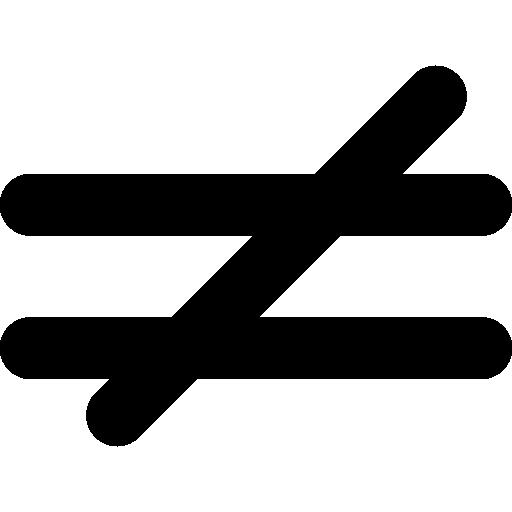 Download Gratis Is Niet Gelijk Wiskundig Symbool Free Icons Symbols Vector Icons