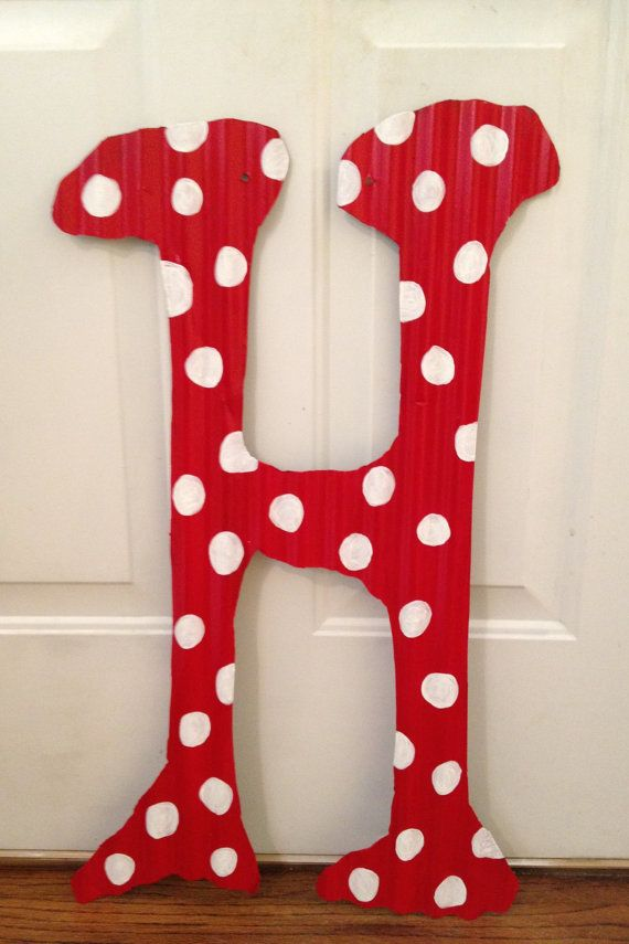 Large Custom Hand Painted Corrugated Metal Letters To Hang On Front