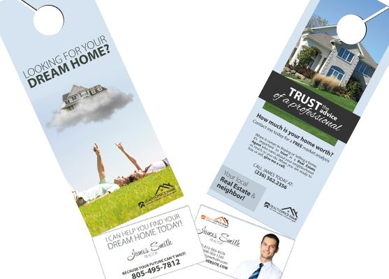 Real Estate Door Hanger Rip Cards Template 15 Door Hanger Rip Cards Business Card Holders Cards Door Hangers