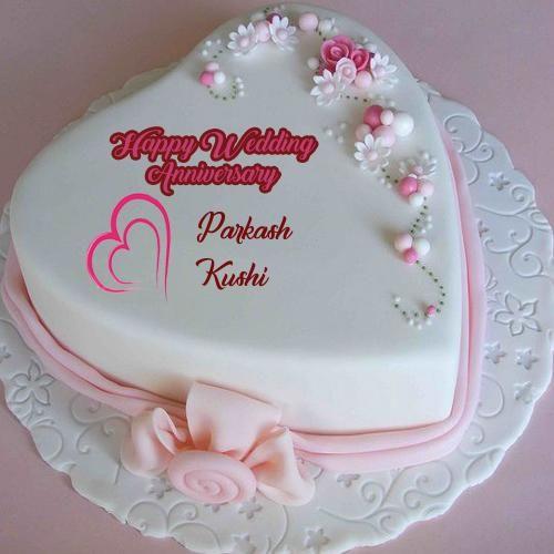 Happy Wedding Anniversary Wishes Names Cake Image Sejal Lalvani