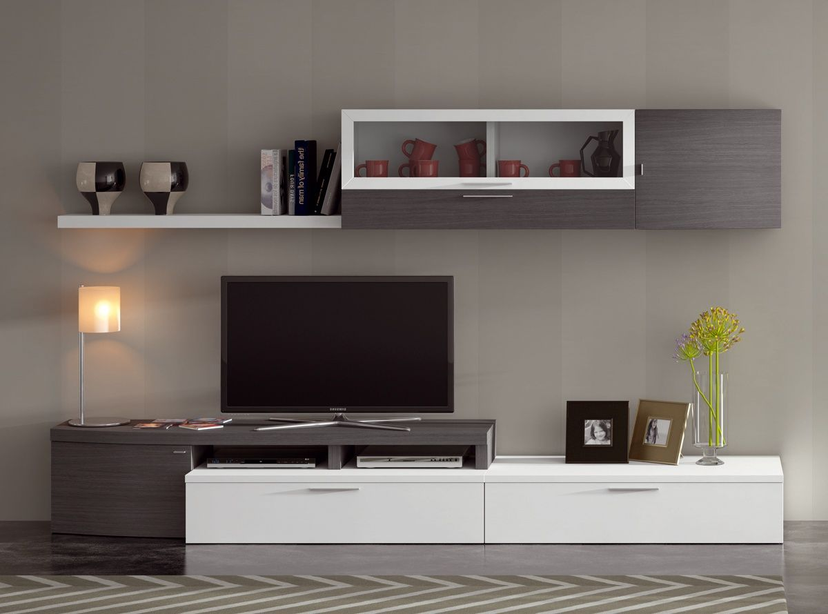 Muebles De Salon Akron Muebles La Fabrica Salones Pinterest  # Muebles Rack Para Tv