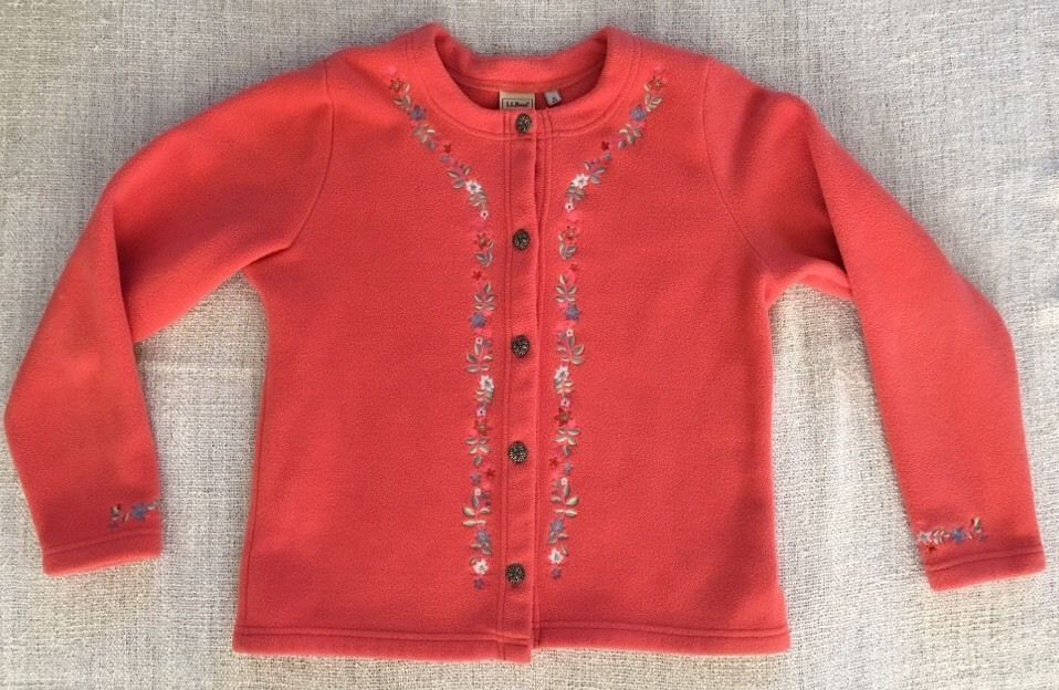 Embroidered Fleece pullover