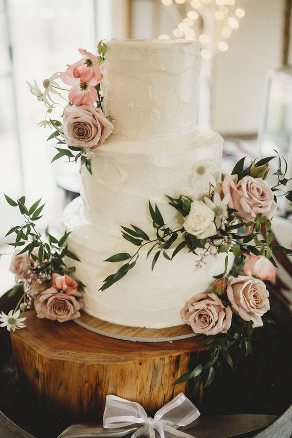 Top 20 Simple Pink Wedding Cakes for Spring Summer Weddings