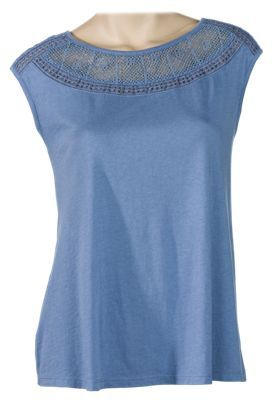 Bob Timberlake Crochet Lace Sleeveless Top for Ladies - English Manor - 2XL