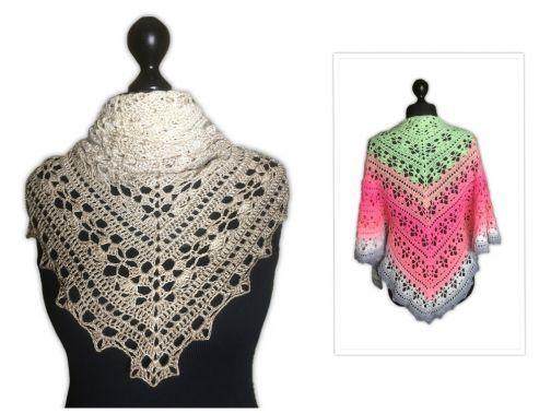 Minai Tuch Häkelnstricken Crochet Shawl Und Crochet Patterns