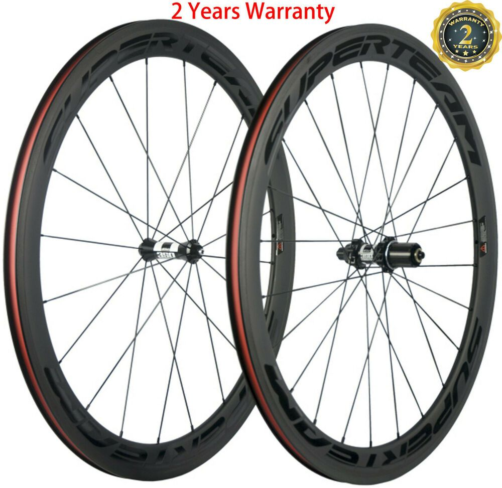 Details About 700c Clincher Carbon Road Bike Wheelset 50mm Dt350s