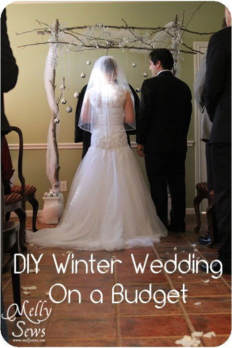 Melly Sews Winter Wedding On A Budget Diy Backdrop Tutorial