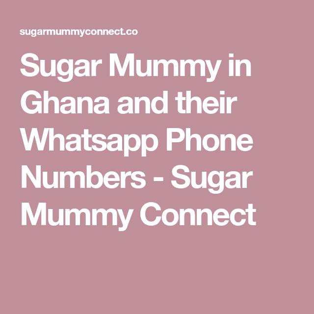 I need a rich sugar mummy in ghana dating