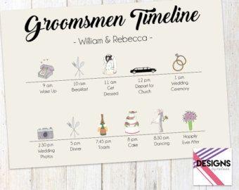 Groomsmen Timeline Wedding Day Groom S Guys Weekend