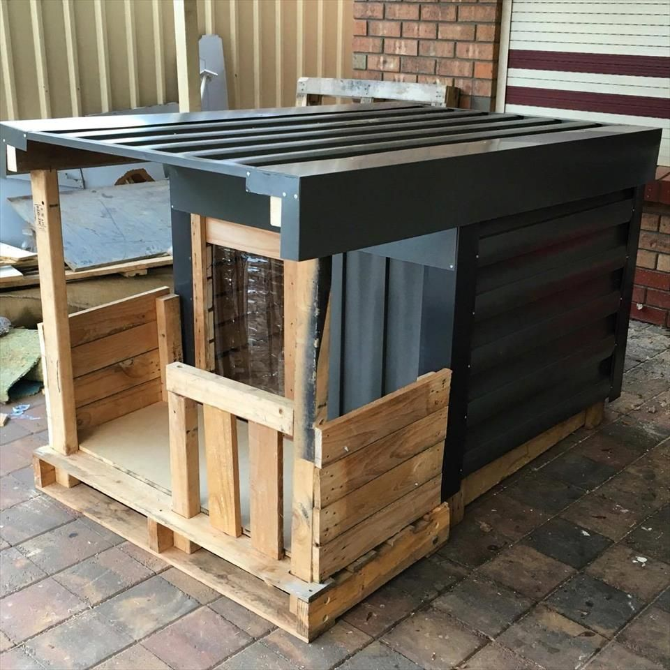 Diy Dog House Part - 37: Clone This DIY Pallet Dog House To Earn More Respect From Your Dog, The Best