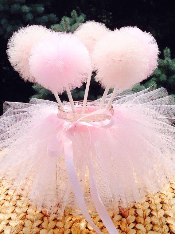Mason jar tutu ,Ballerina tutu Party Decoration,tutu princess Party Centerpiece,jar Tutu Skirt and 5 mini pom pom wands,wedding Tutu Table