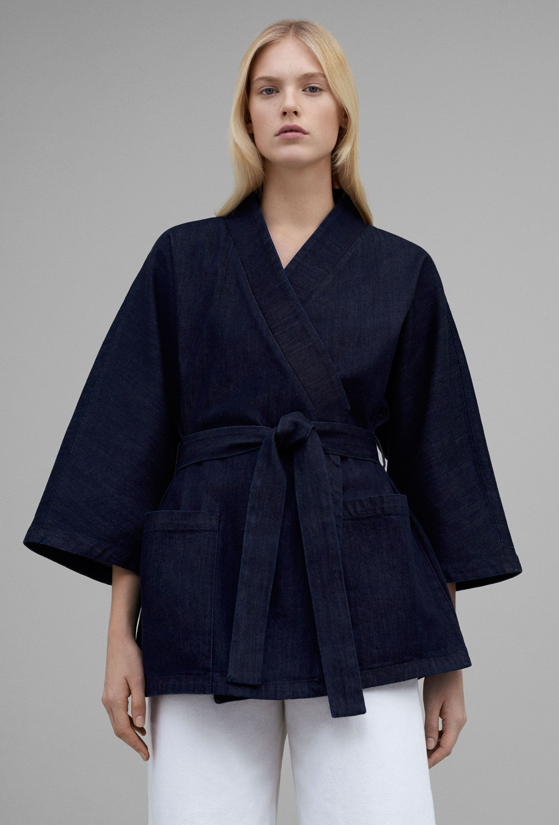 COS belted denim kimono style jacket curated by ajaedmond