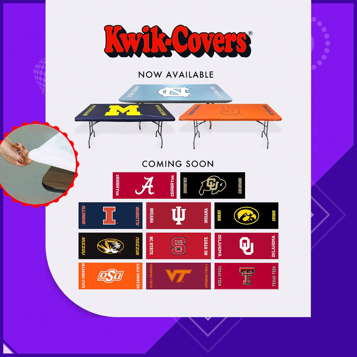 College Team Fitted Table Covers Fitted Table Cover College Logo Cover