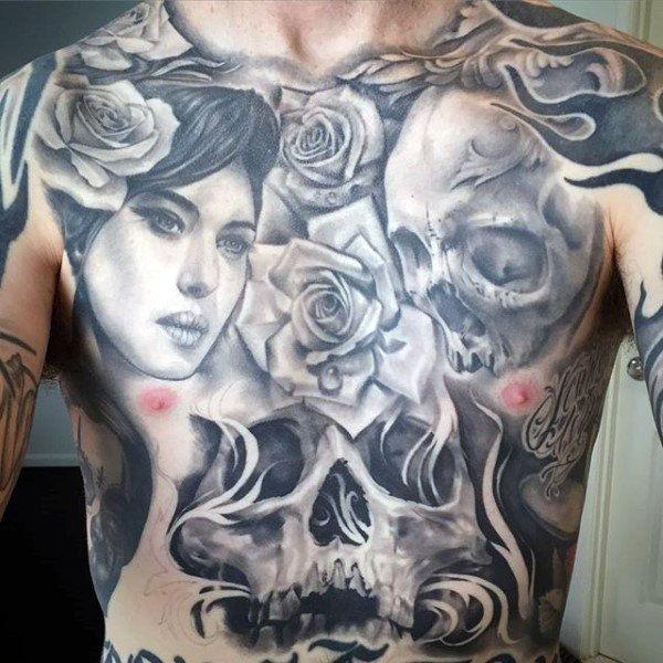 8fd8fb2a5 Top 100 Best Stomach Tattoos For Men - Masculine Ideas   Tattoo Men ...