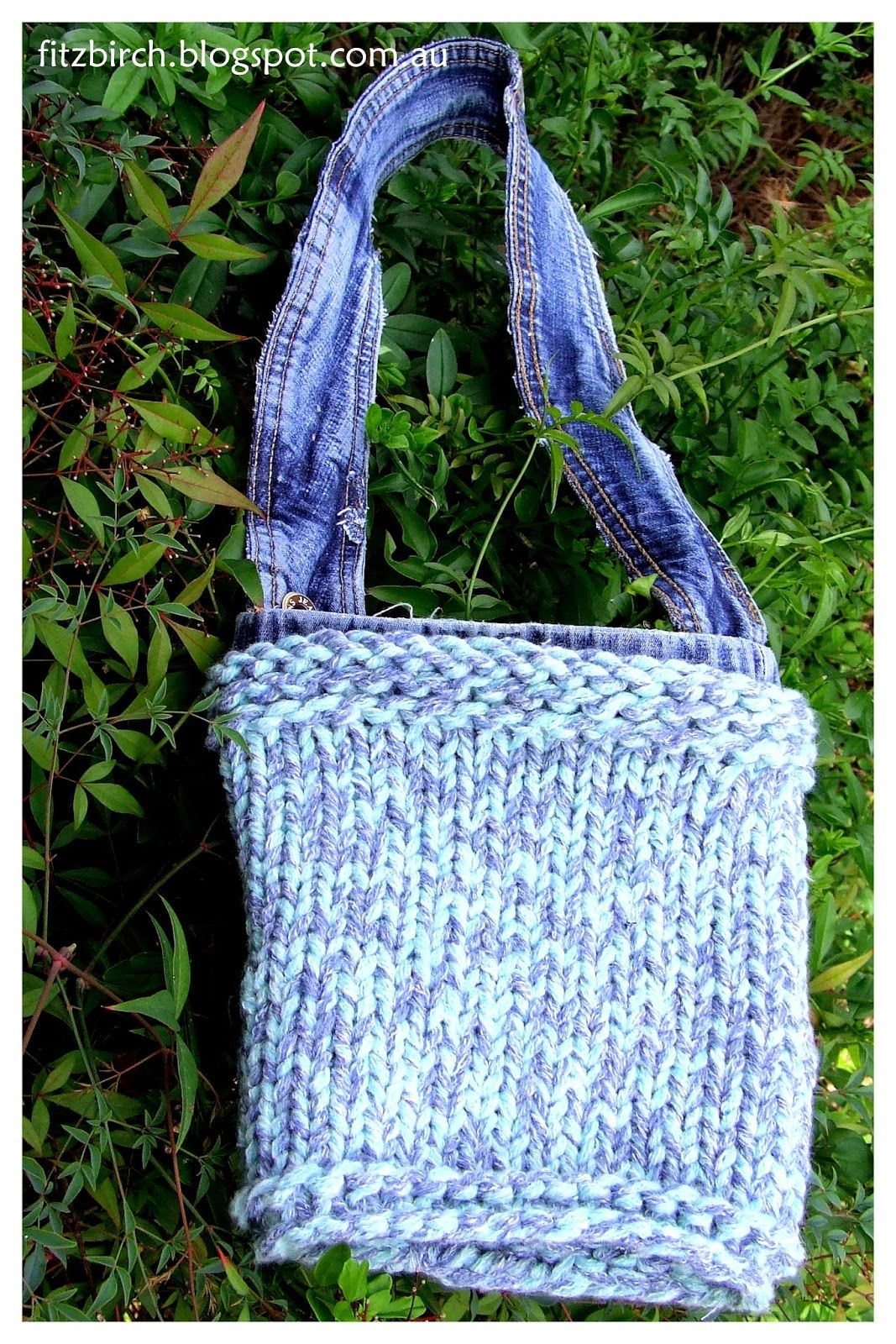 Free instructions for a loom knit bag. Shown here with lining and ...