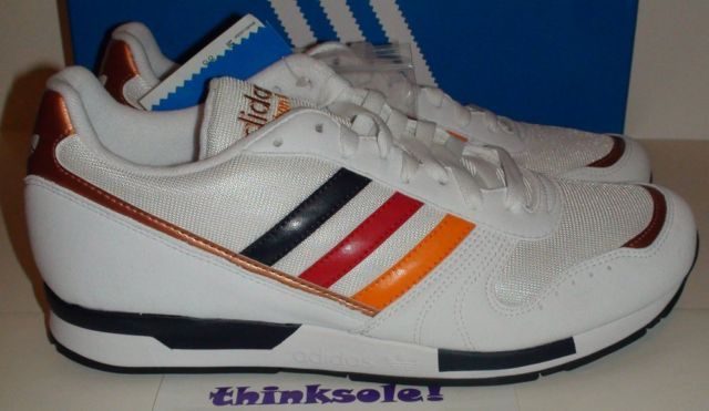 pretty nice 06597 64780 Trainer Shoes · Adidas Marathon 88 (White Navy Blue Copper Orange) -  $129.99 Blue And Copper,