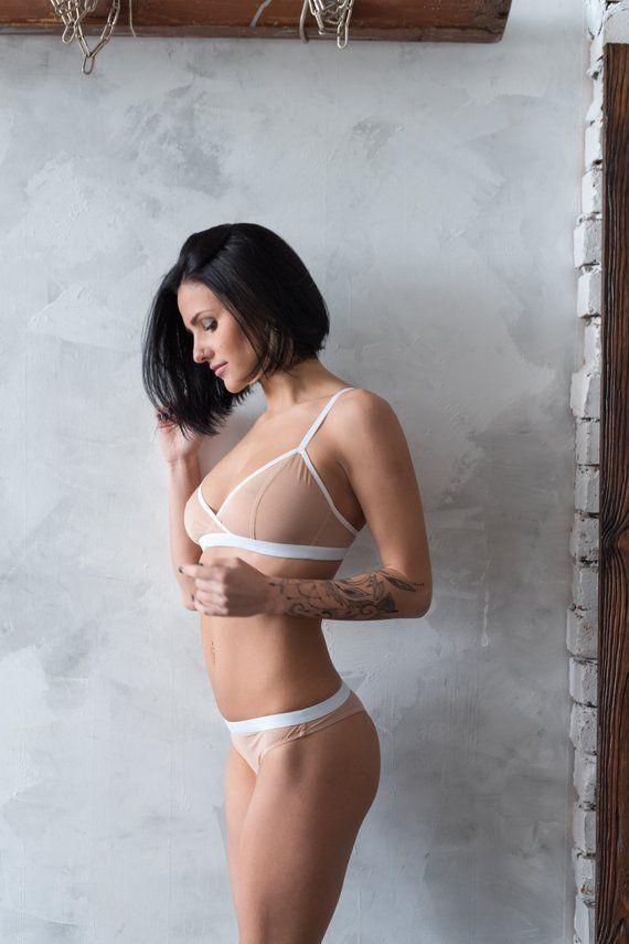 Sheer lingerie nude