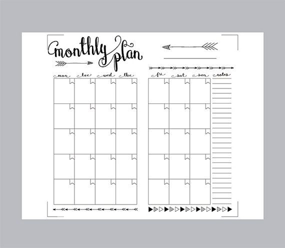 Printable Monthly Planner Inserts Midori Monthly Spreadsheet