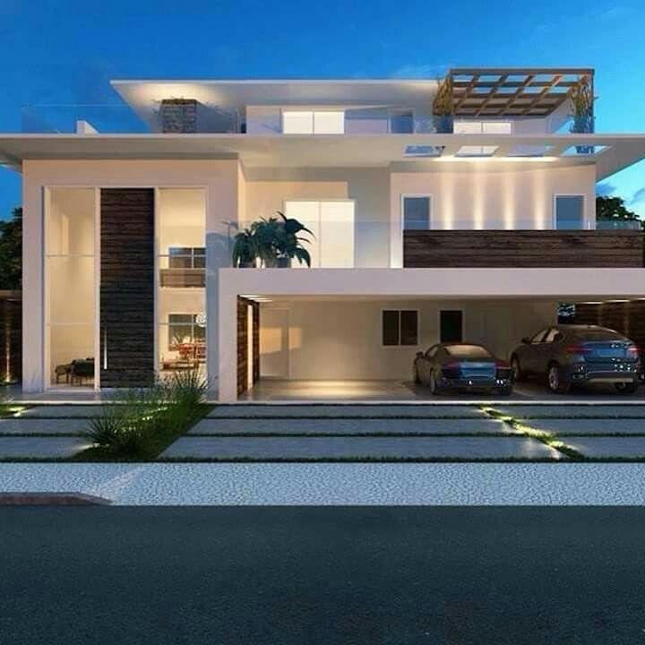 Pin von sandra beatriz pigatto auf arquitetura pinterest for Design moderno casa contemporanea con planimetria
