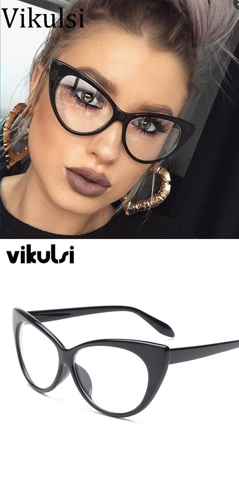 c740b20560ff New sexy cat eye optical glasses women transparent eyewear brand designer  vintage clear eyeglasses optical frame oculos  eyewear  accessories  frames   women ...