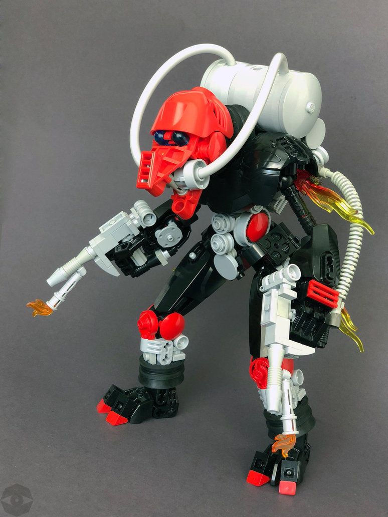 Bionicle Moc Incinerator Slizer Torch By Lordoblivionthegreat