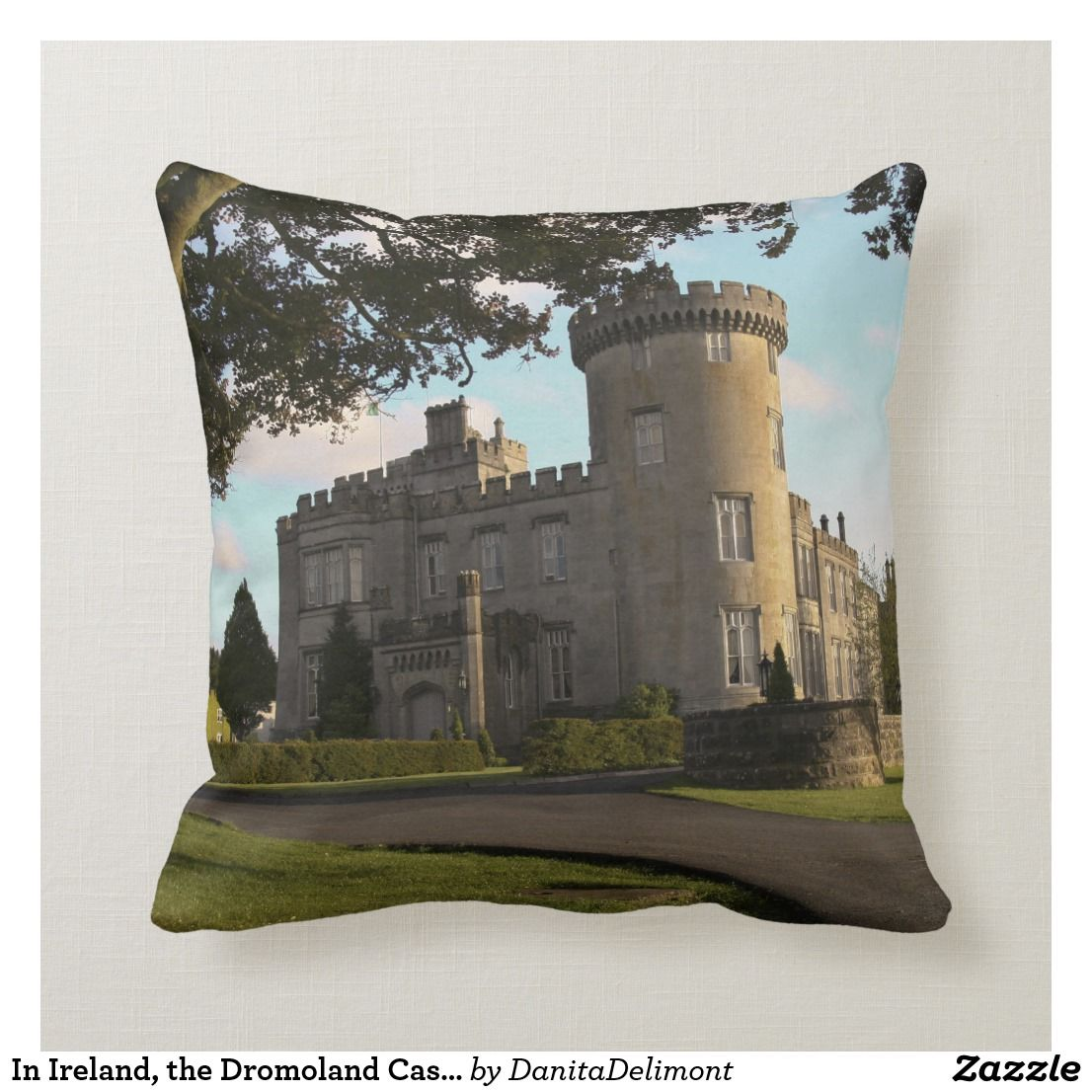 In Ireland The Dromoland Castle Side Entrance Throw Pillow