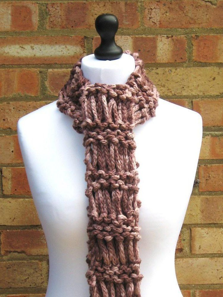 Chunky Drop Stitch Scarf Knitting pattern by Looking Glass ...