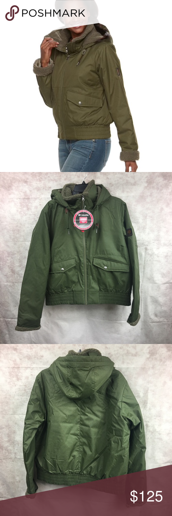72370807d NWT Columbia Green Beacon Brooke Fleece Bomber Brand new with tags ...