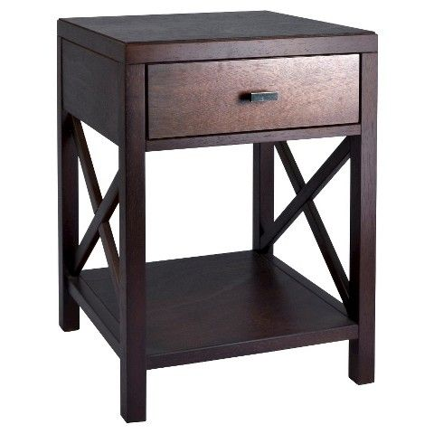Owings Side Table With Drawer Espresso Threshold Side Table With Drawer End Tables With Drawers Rustic Console Tables