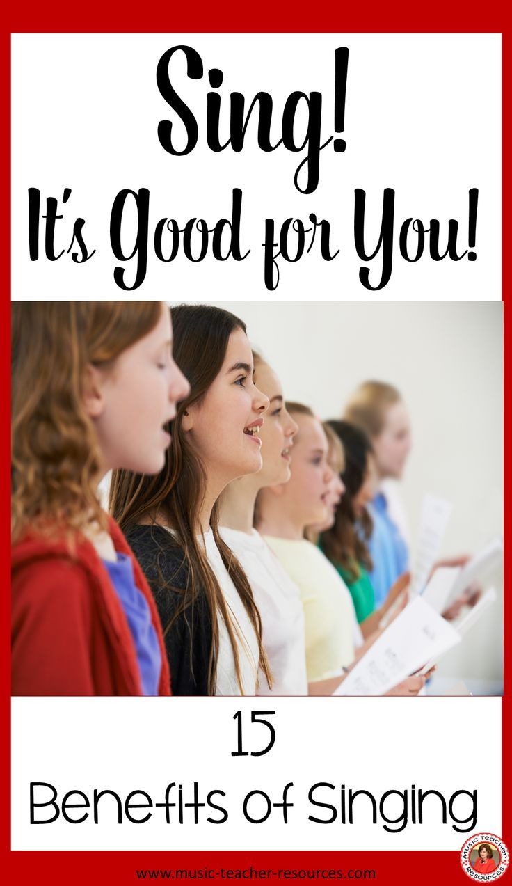 Sing! It's Good for You Singing lessons, Singing