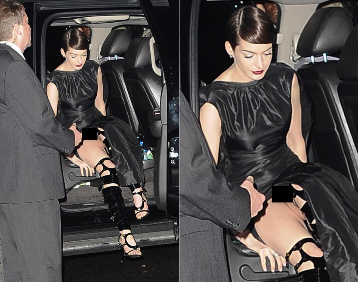 You Anne hathaway forgets her underwear seems me