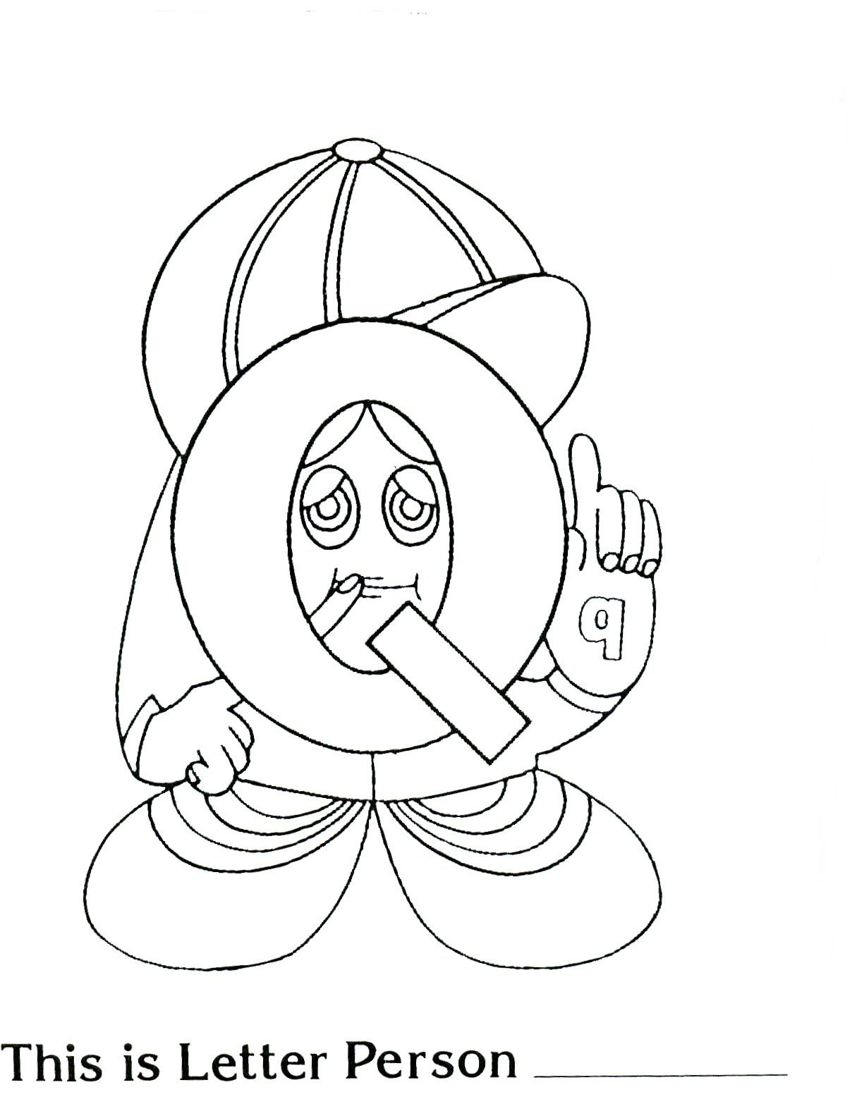 Brilliant Beginnings Preschool Letter Person Q Printable Coloring Page