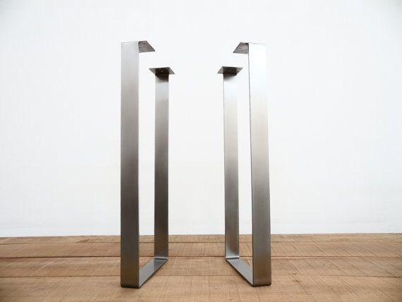 40 x 14 Flat Stainless Steel Table Legs Height 33 by Balasagun