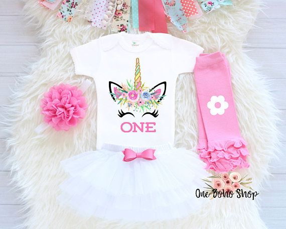 349afa794 Unicorn First Birthday Outfit, First Birthday Outfit Girl, 1st ...